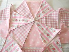 pink bunting in various designs by glitter-pink | notonthehighstreet.com