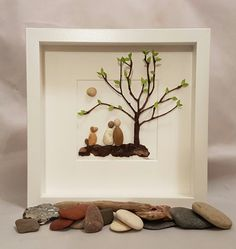 Un galet de verre art photo de galets Couple et chien