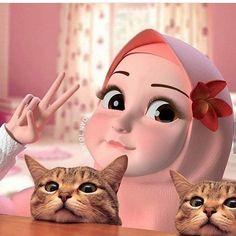 Hijab lucu Cute Girl Wallpaper, Cute Disney Wallpaper, Cute Cartoon Wallpapers, Cartoon Pics, Girl Cartoon, Cartoon Art, Chibi, Hijab Drawing, Doodle