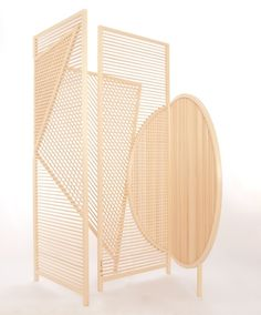 wooden screens by BCXSY (Boaz Cohen & Sayaka Yamamoto) in collaboration with a Japanese craftsman