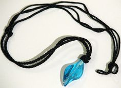 H2O Just Add Water Mermaid H20 Style Blue Crystal Pendant  Necklace