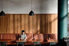 Seventeen cafes are shortlisted in the 2019 Eat Drink Design Awards. Restaurant Interior Design, Cafe Interior, Banquet Seating, Design Exterior, Bar Design Awards, Cozy Cafe, Hospitality Design, Cool Bars, Cafe Design