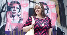 #gwynniebee member @Margit Detweiler in the Lucie Lu Shift Dress in Chevron