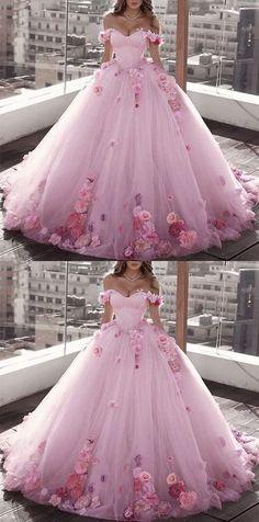 Fancy Wedding Dresses, Pretty Quinceanera Dresses, Pretty Prom Dresses, Pink Prom Dresses, Gown Wedding, Wedding Church, Tulle Wedding, Blush Dresses, Dream Wedding