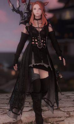Eorzea Collection is where you can share your personal glamours and browse through an extensive collection of looks for your Final Fantasy XIV character. Fantasy Online, Final Fantasy Art, Fantasy Story, Anime Fantasy, Anime Outfits, Sexy Outfits, Zack Fair, Anime Costumes, Cute Characters