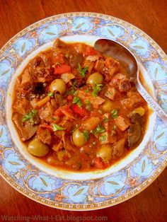 Cuban Beef Stew ~ a great meal for turning a tough cut of meat into something special!