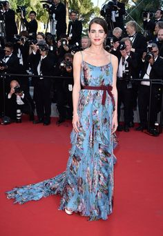 Pin for Later: 44 Style Secrets From Karl Lagerfeld's Royal Muse, Charlotte Casiraghi Charlotte's Most Lovely Red Carpet Moments Are Complete With Plenty of Color This Gucci gown turned heads.