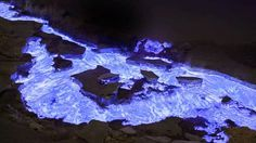 Blue flame volcano in java