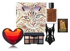 """""""Following 4"""" by efrat-kazoum ❤ liked on Polyvore featuring NARS Cosmetics, MOEVA, Smashbox, Tom Ford and Baccarat"""