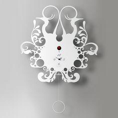 Clock - Back Nature White