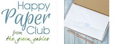 Happy Paper Club stationery subscription is a monthly service that delivers boxes filled with papery goodness, happy and inspirational messages, and more. Blue Words, Green Gables, Subscription Boxes, Feeling Happy, Paper Goods, Things To Think About, Stationery, Love You, Club