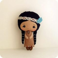 I <3 this gorgeous Native American doll by Ginger M.