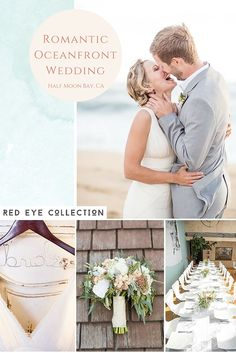 Real Wedding :: Romantic Oceanfront Wedding in Half Moon Bay, CA by Red Eye Collection.
