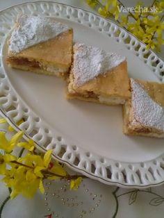 Jablkovo-tvarohový mriežkový koláč (fotorecept) - recept   Varecha.sk Apple Pie, Food And Drink, Treats, Ethnic Recipes, Sweet, Desserts, Erika, Basket, Sheet Cakes