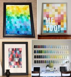 Craft Blog / Crafting With Paint Chips. DIY & Art Galore by COLOURlovers :: COLOURlovers