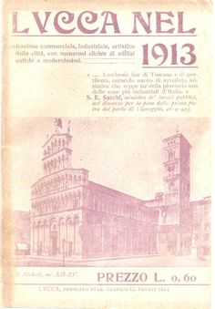 The city of Lucca on a cover of a magazine dated 1913
