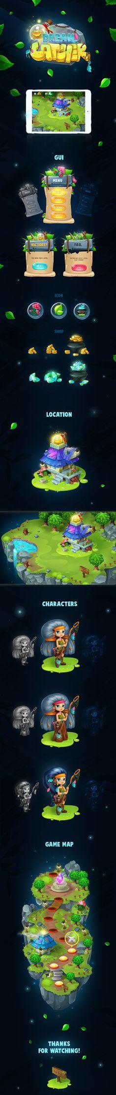 "ArtStation - Game ""DreamCatcher"", Boyko Julia"
