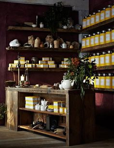 From to-go counters to services, these high-design spots are perfect for your next afternoon cuppa. Tour the most beautiful tea shops across the globe Tea Lounge, Lounge Design, Store Interiors, Purple Walls, Home Hacks, Retail Design, Store Design, Decorating Tips, Coffee Shop