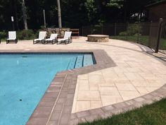 Installed with Cambridge Pavingstones with ArmorTec, this beautiful, dynamic patio is perfect for family time. Installation: Platinum Pools