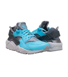 NIKE Huarache sneaker Lace up closure Ventilated upper Huarache logo detailing Cushioned inner sole . Nike Air Huarache, Huaraches, Nike Men, Footwear, Lace Up, Sneakers Nike, Grey, Shoes, Fashion