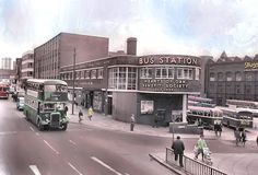 The 'Red' bus station on Vicar Lane, Leeds Old Pictures, Old Photos, Welcome To Yorkshire, Leeds City, Vicars, Red Bus, Art Deco Buildings, Bus Station, West Yorkshire