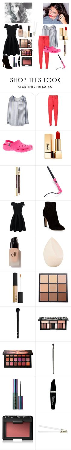 """""""Colleen and Miranda based outfits, hair, nd makeup"""" by riddle-me-bliss ❤ liked on Polyvore featuring Baja East, Crocs, Yves Saint Laurent, Gianvito Rossi, e.l.f., Christian Dior, NARS Cosmetics, Morphe, NYX and Kat Von D"""