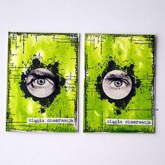 "100% handmade: The May issue in Art Grupie ATC is ""EYE""..."