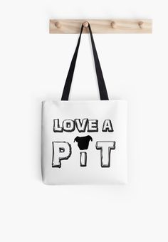 Support Pit Bulls with this tote bag! Design is also available on other products including tees and 10% of personal profits is donated to helping pit bulls. #supportpitbulls #pitbulls #dogs #bag #tote #redbubble