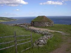 Historic Scottish croft, Iona,Cape Breton, Canada