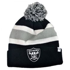Oakland Raiders NFL Breakaway Knit Beanie Cap available at  VillageHatShop  Football Caps d415e7c3e1c
