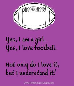 I love football! Almost football season already!