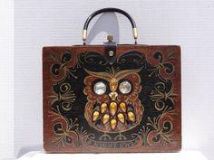 Vintage-Enid-Collins-of-Texas-Box-Bag-Purse-Night-Owl-1963-