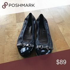AGL flats (black with silver buckles) Super cute and comfy flats! AGL Shoes Flats & Loafers