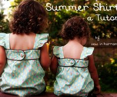 This is a tutorial to make a sweet, summer shirt for your child (or even for you!).  This tutorial is based on measurements, not a pattern, so you can...