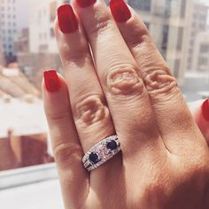 Feeling so #patriotic! #jewelry #diamonds #ring #red #white #fab #blue #dtla #bridalringscompany #bridalrings #sparkle #fashion #love #chic #glam #bridal #bride #groom #engagement #fashionista