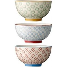 Bloomingville Emma Bowls with patterns - Set of 3