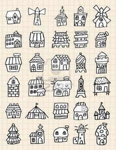 house doodles - Cerca amb Google