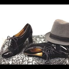 Sexy black heels Suede & satan lace-up heels! Gently worn. Great condition! Shoes Heels