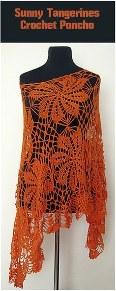 Sunny Tangerines Crochet Poncho - 50 Free Crochet Poncho Patterns for All - Page 3 of 9 - DIY & Crafts