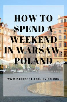 Find out how to spend a weekend in Warsaw, with our must-read travel guide to Warsaw, Poland, the perfect destination for a European city break. Warsaw Old Town, Warsaw Poland, Poland Travel, France Travel, European Destination, European Travel, Africa Destinations, Travel Destinations, European City Breaks