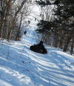 Inner tubing on the snow