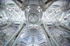 The interior of the Mosque of Rome is made with reinforced cement allowing for a unparalleled woven ceiling design.