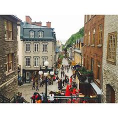 When it looked like a bustling European village. | 21 Times Old Quebec City Was Too Beautifully Quaint For Its Own Good