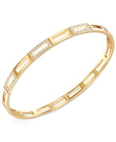 Swarovski Cubist Gold-Plated Crystal Bangle Bracelet Gold Chain Design, Gold Bangles Design, Gold Jewellery Design, Silver Bangles, Diamond Bracelets, Bangle Bracelets, Bangle Set, Fashion Rings, Fashion Jewelry