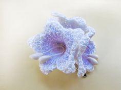 Lavender Bell flower Hairclip. Crochet Lavender by goolgool, $18.00