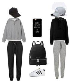 """Grey & Black"" by mandyrobbie on Polyvore featuring moda, Icebreaker, IRO, rag & bone, MICHAEL Michael Kors e adidas"