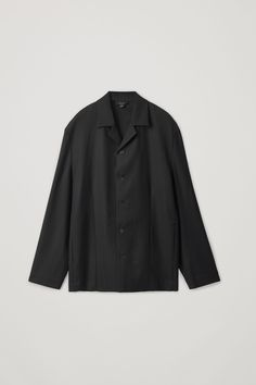 Cos Long-sleeved Cuban-collar Shirt In Black Suit Shop, White Shirts, Collar Shirts, Timeless Fashion, Fashion Brand, Long Sleeve Shirts, Menswear, Sleeves, Clothes