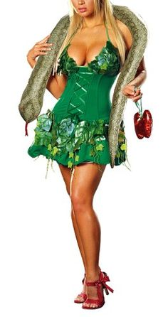 Amazon.com: Dreamgirl Women's Adam and Eve Costume available in PLUS: Clothing