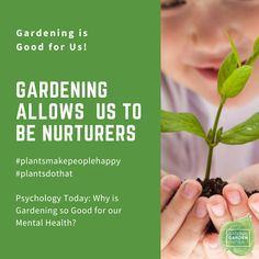 Taking care of plants is a great way to feel connected to nature and give us purpose in a confusing time. Plant a Victory Garden you won't be disappointed! Victory Garden, Wednesday Wisdom, Psychology Today, For Your Health, Growing Plants, Disappointed, Victorious, Purpose, Herbs