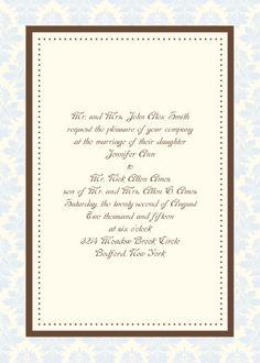 The Vintage Elegance Classic 5x7 Pocket Ready Wedding Invitation.